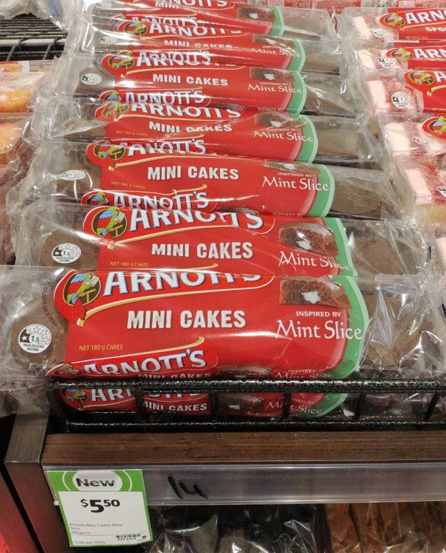 Arnott's 180g Mini Cakes Mint Slice