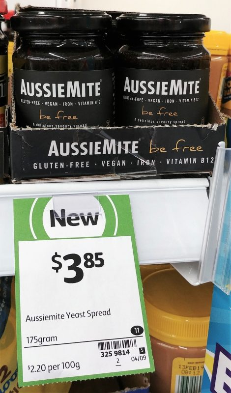 AussieMite 175g Yeast Spread Be Free