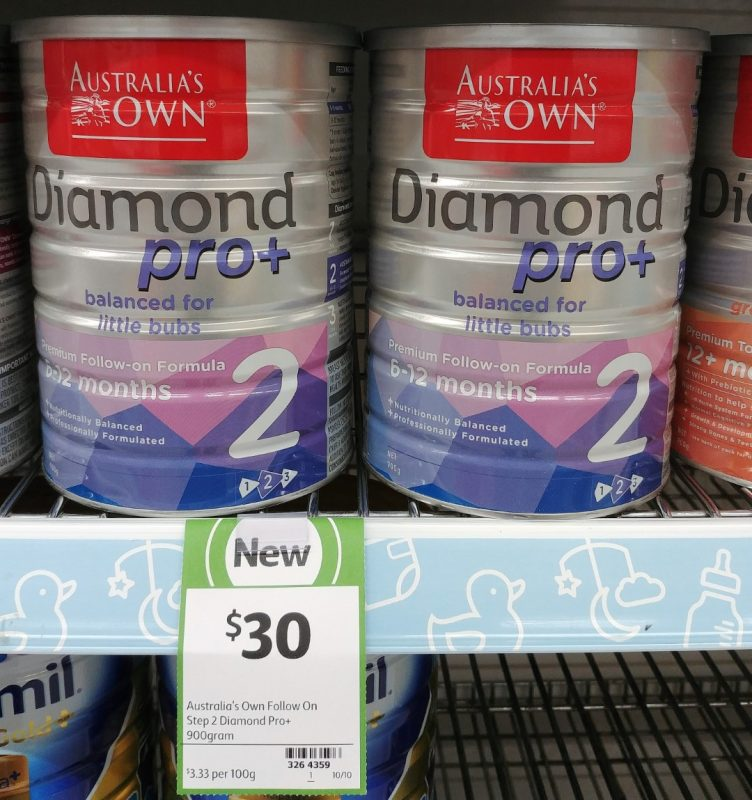 Australia's Own 900g Follow On Formula Diamond Pro+ Step 2