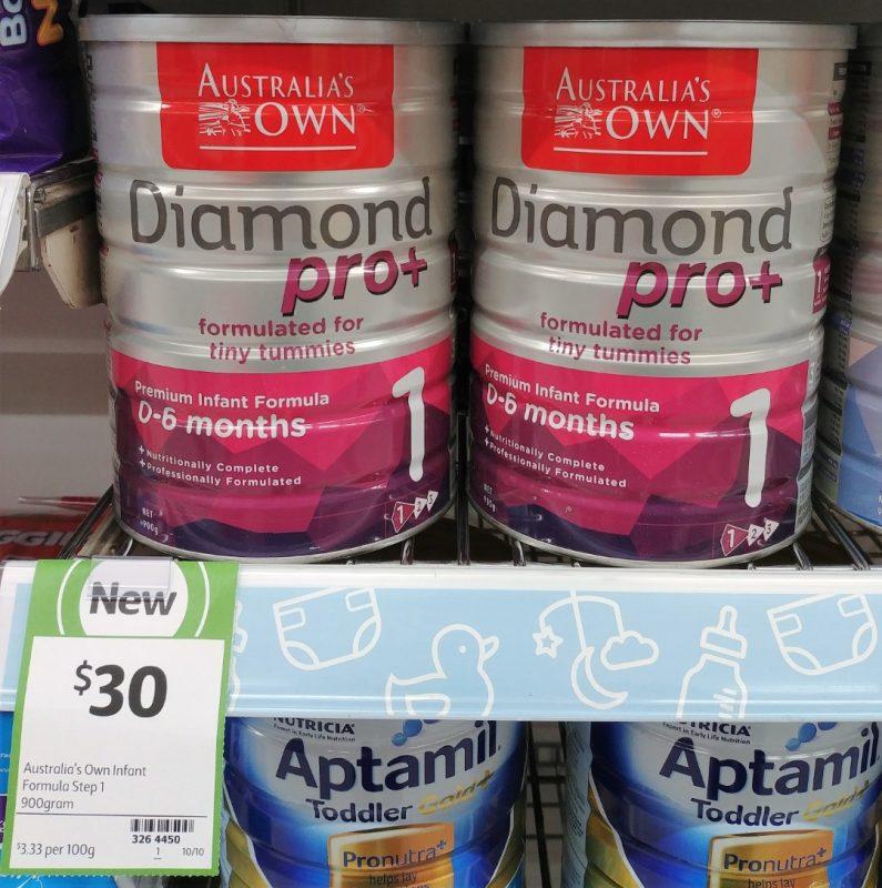 Australia's Own 900g Infant Formula Diamond Pro+ Step 1