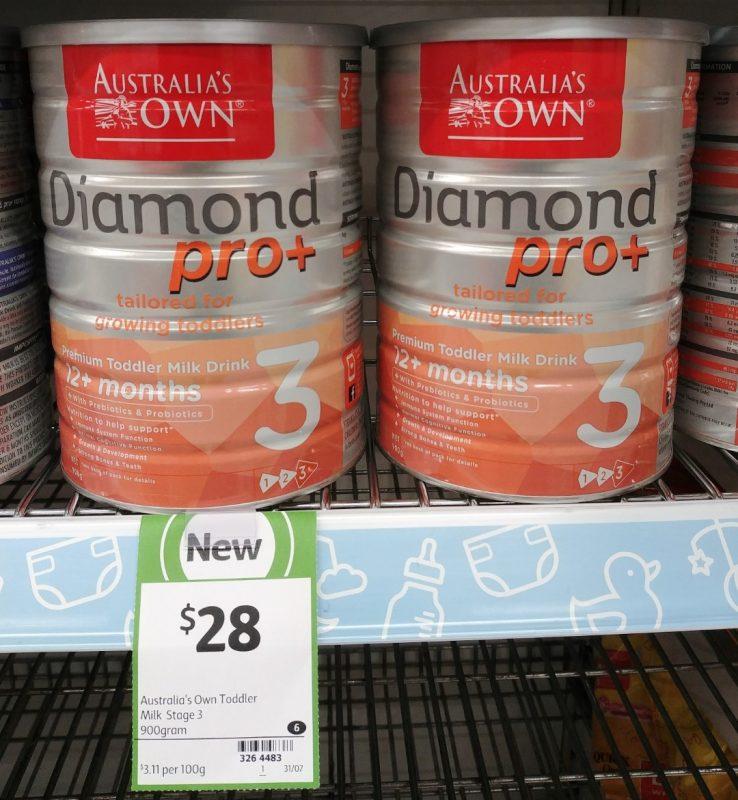Australia's Own 900g Toddler Milk Drink Diamond Pro+ Step 3