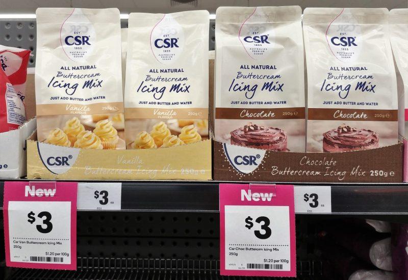 CSR 250g Icing Mix Buttercream Vanilla Flavour, Chocolate