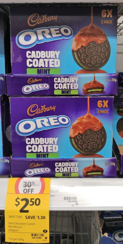 Cadbury 204g Oreo Cadbury Coated Mint