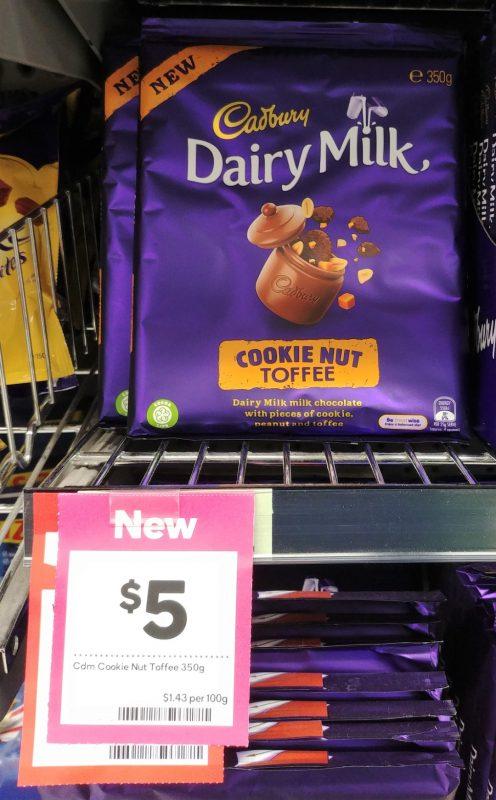 Cadbury 350g Milk Chocolate Cookie Nut Toffee