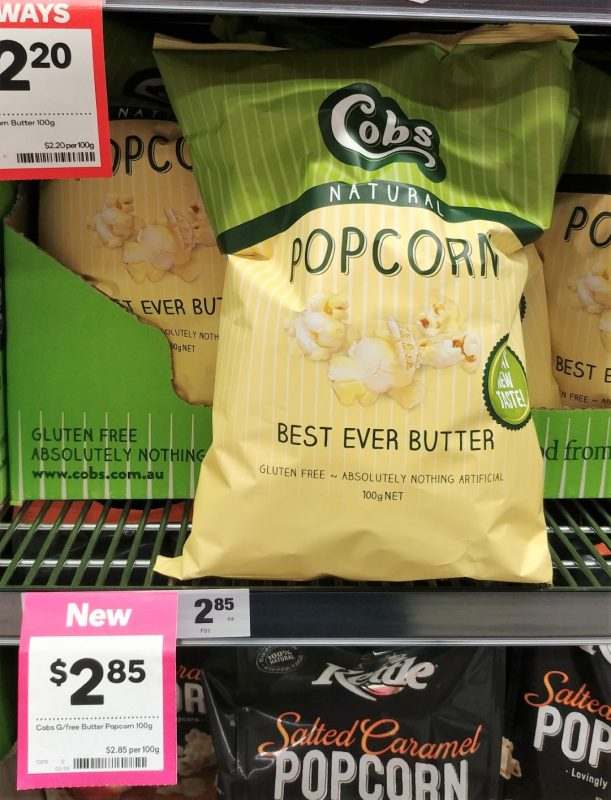 Cobs 100g Popcorn Best Ever Butter