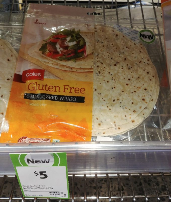 Coles 200g Gluten Free Wraps Multi Seed