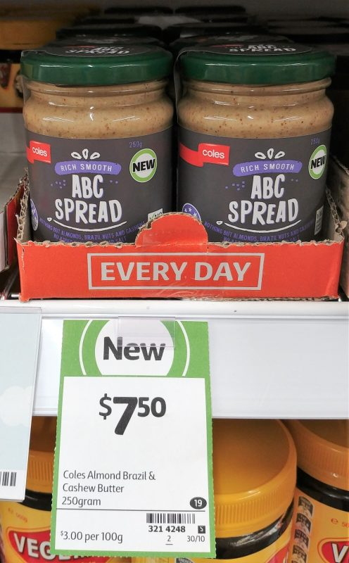 Coles 250g ABC Spread