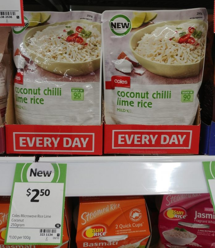 Coles 250g Rice Coconut Chilli Lime