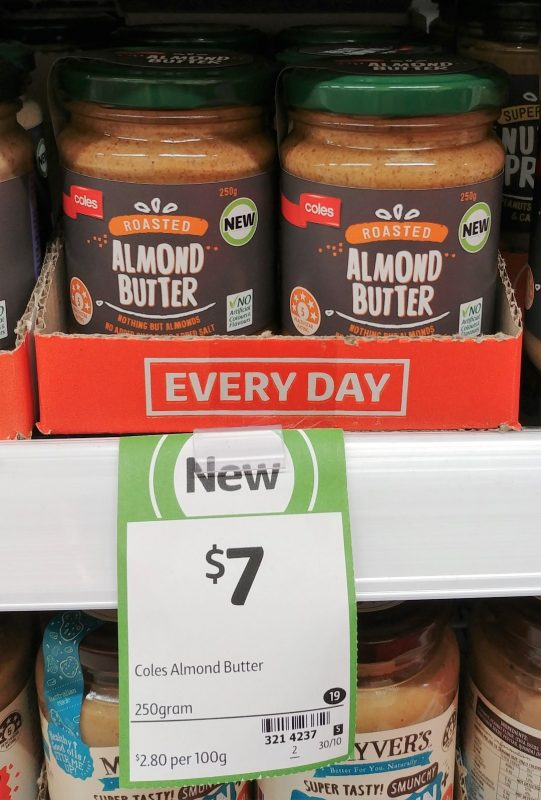 Coles 250g Roasted Almond Butter