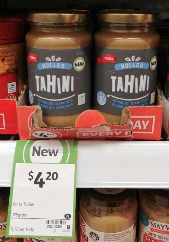 Coles 375g Hulled Tahini