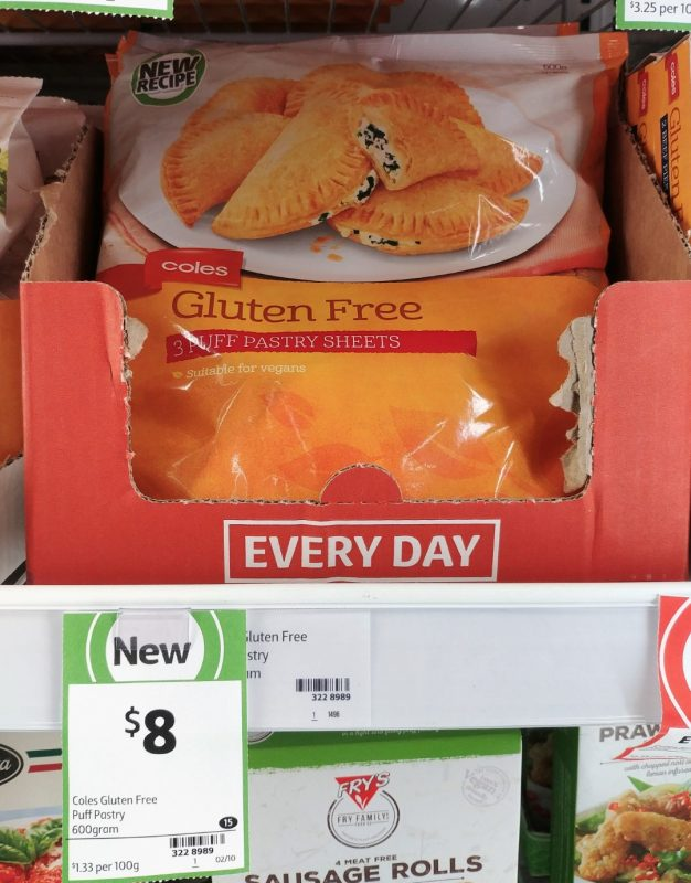 Coles 600g Gluten Free Puff Pastry Sheets