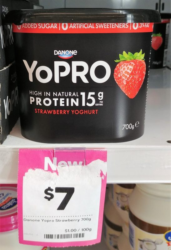Danone 700g Yoghurt Strawberry