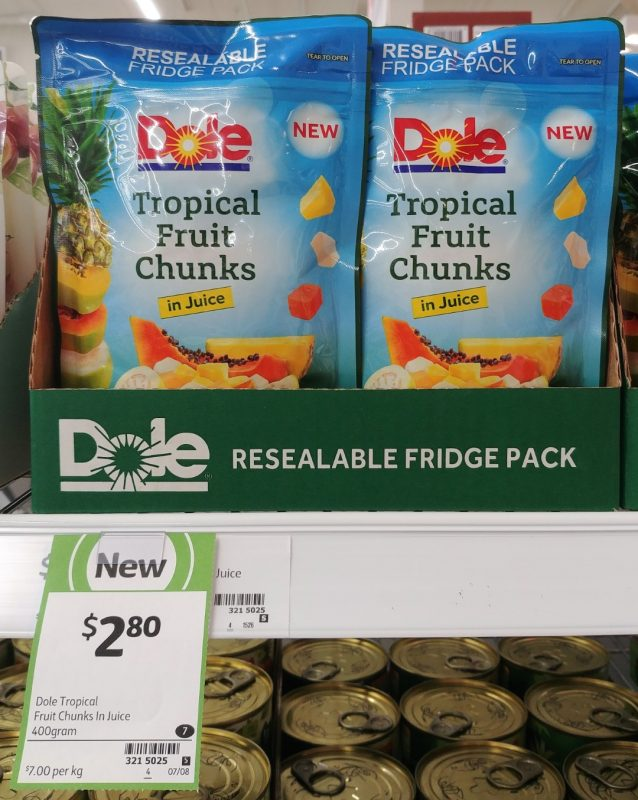 Dole 400g Tropical Fruit Chunks In Juice