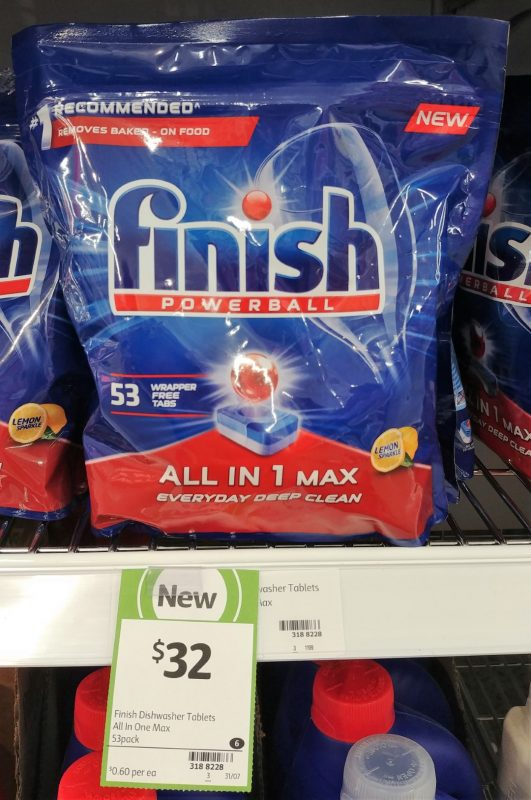 Finish 53 Pack Dishwasher Tablets Powerball All In 1 Max