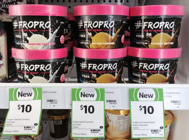 FroPro 520mL Toasted Coconut, Salted Caramel, Peanut Butter