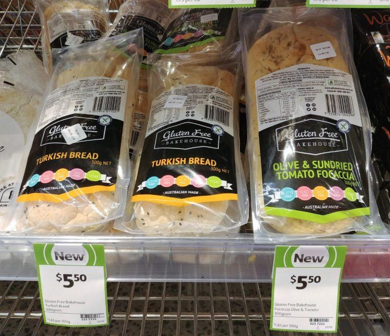 Gluten Free Bakehouse 300g Bread Turkish, Olive & Sundried Tomato Focaccia