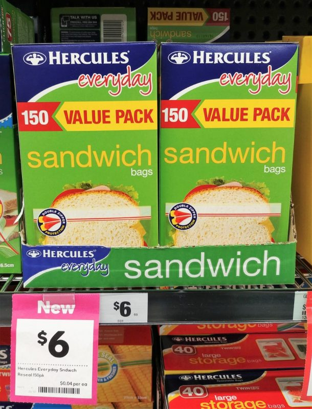 Hercules 150 Pack Sandwich Bags Everyday Value Pack