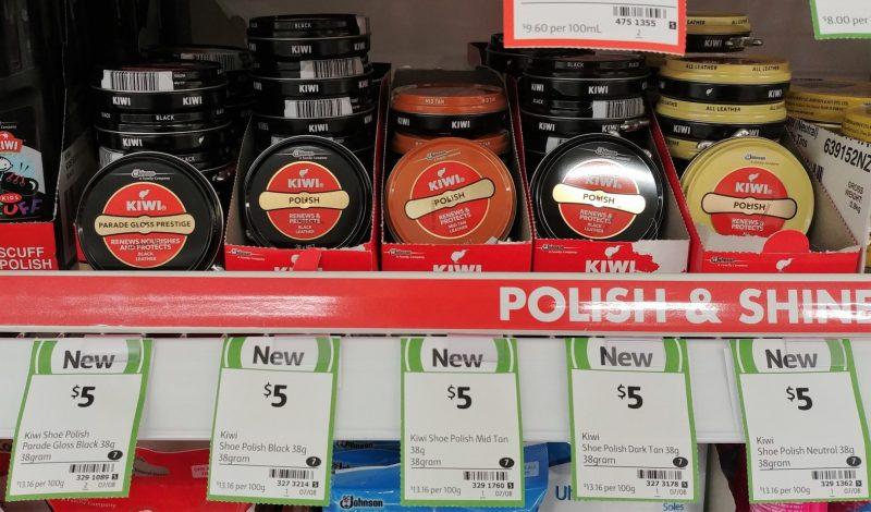 Kiwi 38g She Polish Gloss Black, Black, Mid Tan, Nertral