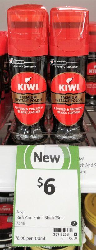 Kiwi 75mL Polish Black Leather