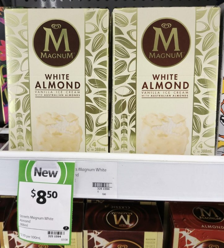 Magnum 388mL White Almond