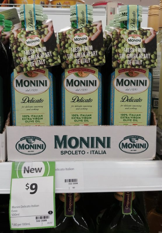 Monini 500mL Olive Oil Delicato