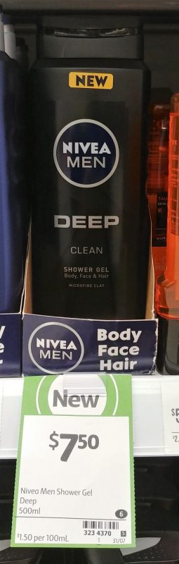 Nivea 500mL Shower Gel Deep Clean