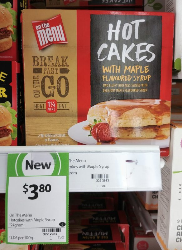 On The Menu 124g Hot Cakes With Maple Flavoured Syrup