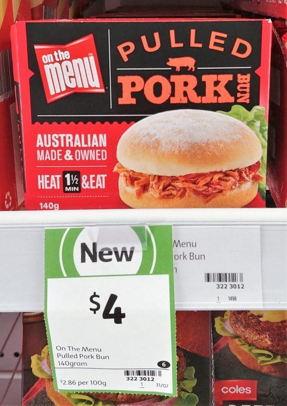 On The Menu 140g Pulled Pork Bun