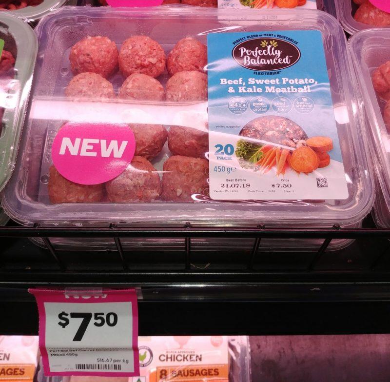 Perfectly Balanced 450g Meatballs Beef, Sweet Potato & Kale