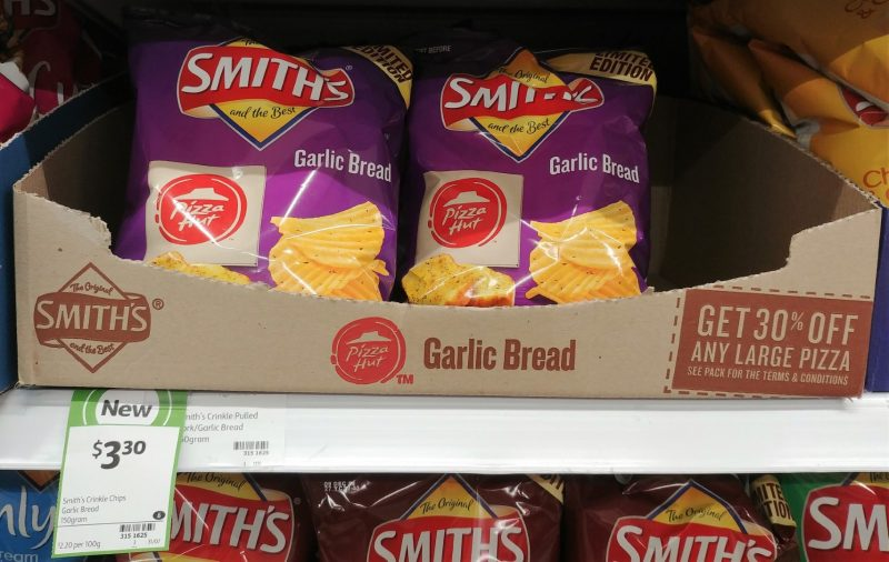 Smith's 150g Potato Chips Pizza Hut Garlic Bread
