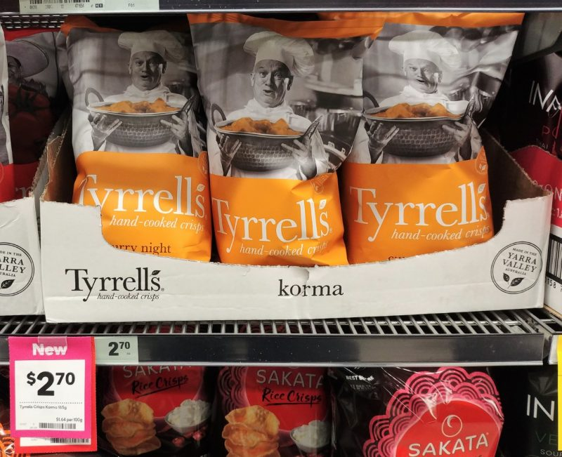 Tyrrell's 165g Potato Chips Korma