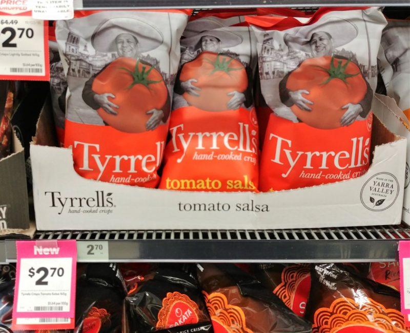 Tyrrell's 165g Potato Chips Tomato Salsa