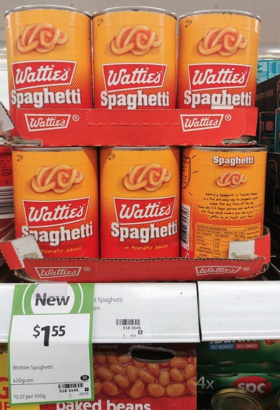 Wattie's 420g Spaghetti In Tomato Sauce