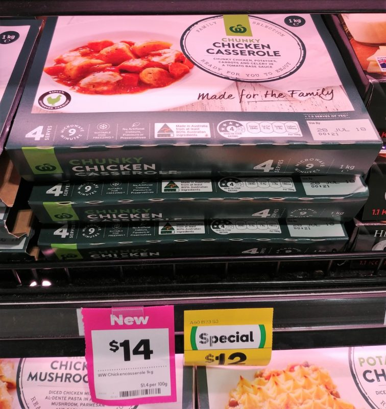 Woolworths 1kg Chicken Casserole Chunky