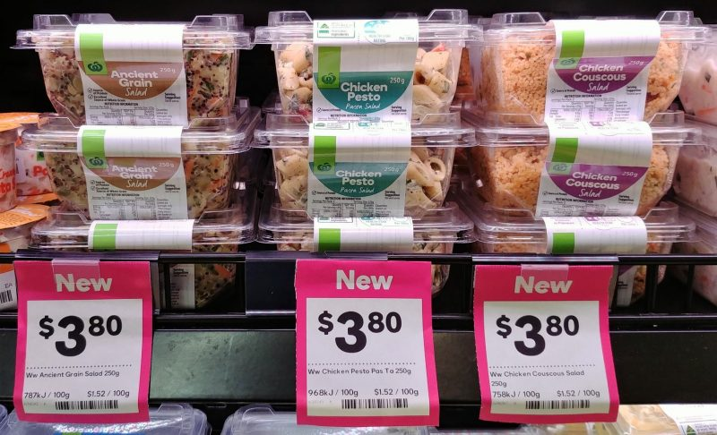 Woolworths 250g Salad Ancient Grain, Chicken Pesto, Chicken Couscous