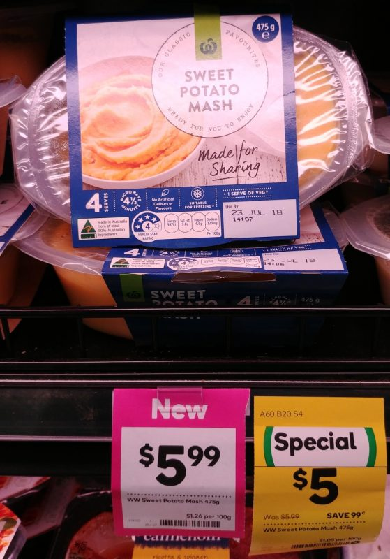 Woolworths 475g Sweet Potato Mash