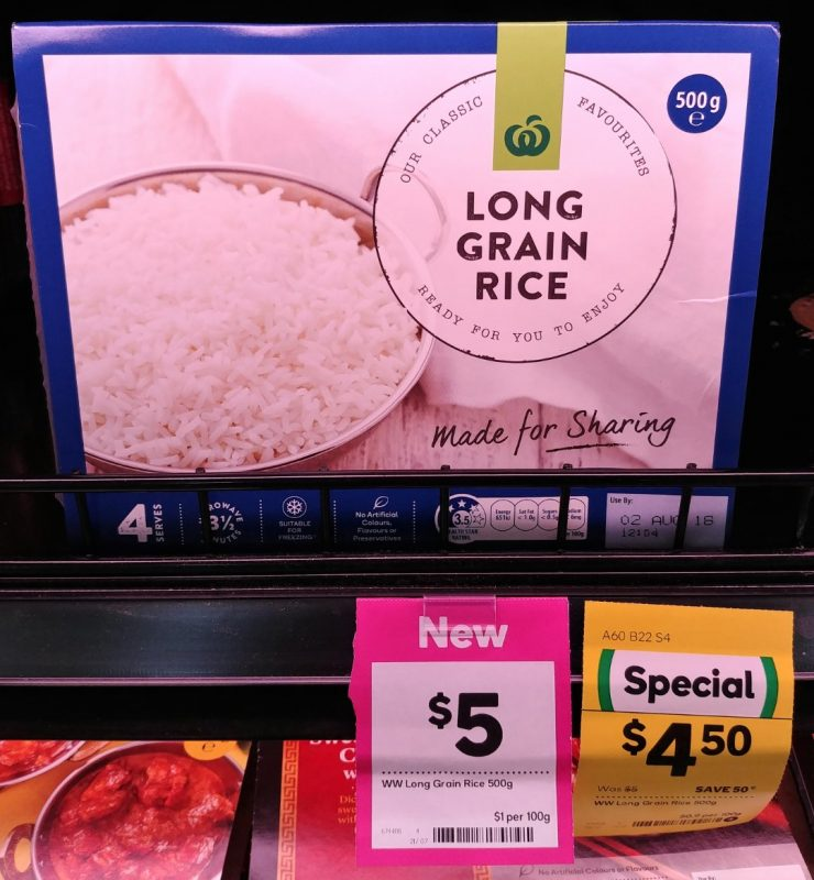 Woolworths 500g Long Grain Rice