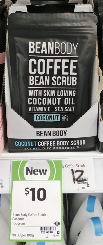 Bean Body 100g Scrub Coconut Coffee Bean