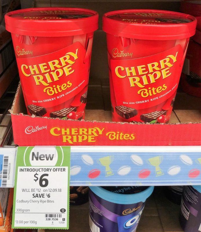Cadbury 300g Bites Cherry Ripe