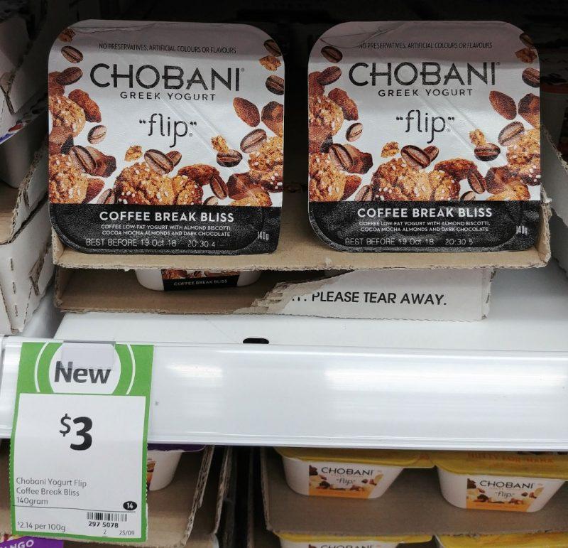 Chobani 140g Flip Greek Yogurt Coffee Break Bliss