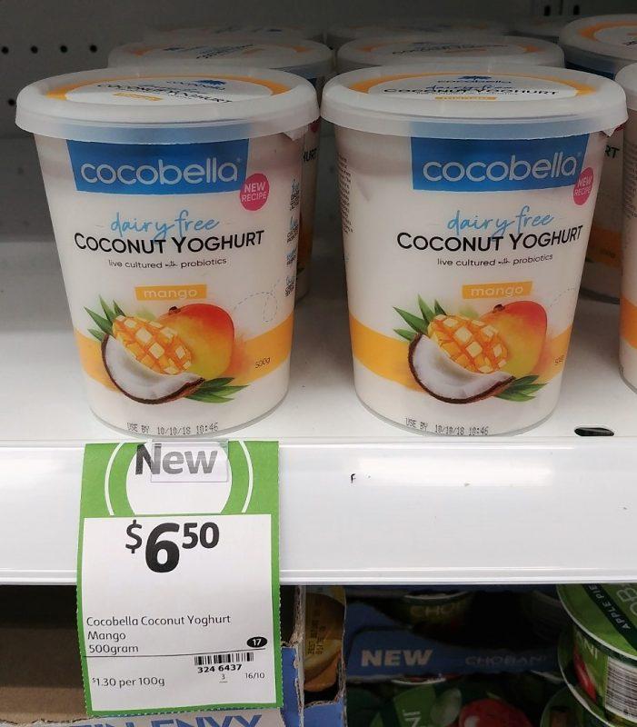 Cocobella 500g Coconut Yoghurt Dairy Free Mango
