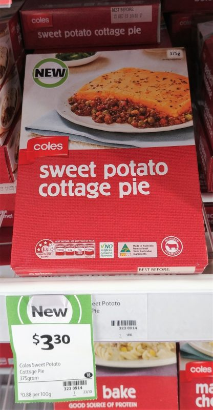Coles 375g Sweet Potato Cottage Pie