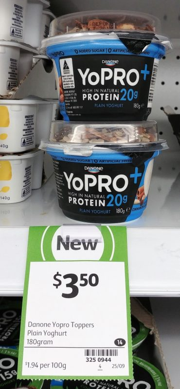 Danone 180g YoPRO + Plain Yoghurt