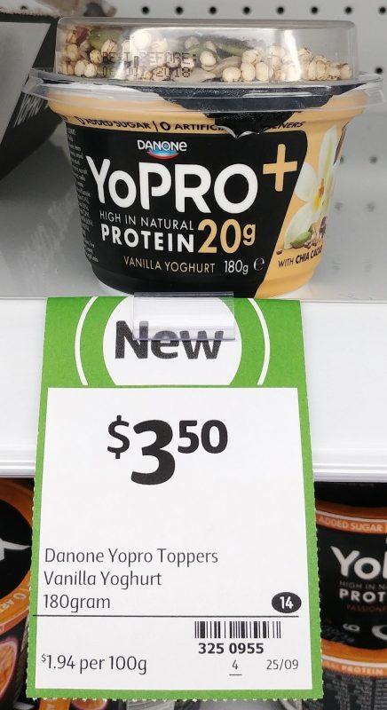 Danone 180g YoPRO + Vanilla Yoghurt With Chai Cacao