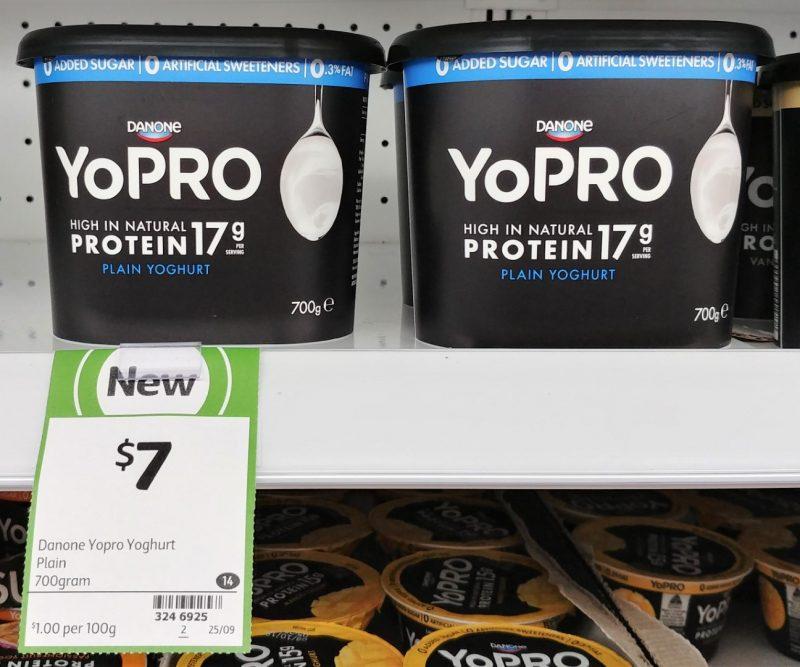 Danone 700g YoPRO Yoghurt Plain