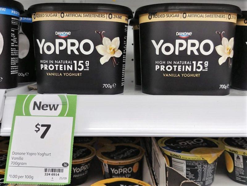 Danone 700g YoPRO Yoghurt Vanilla