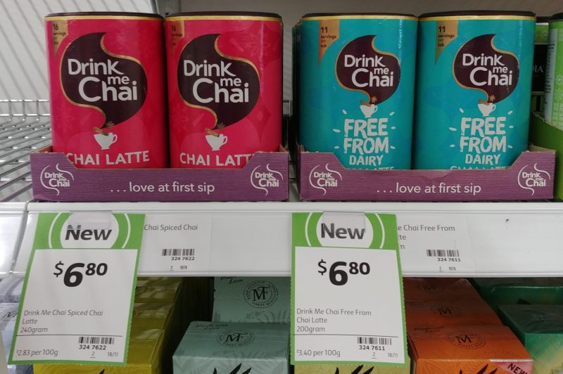 Drink Me Chai 240g Chai Latte, 200g Free From Dairy Chai Latte