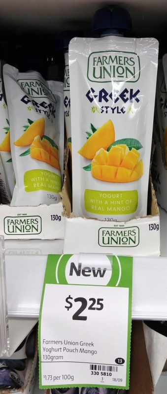Farmers Union 130g Greek Style Yoghurt With A Hint Of Real Mango