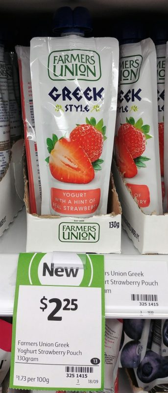 Farmers Union 130g Greek Style Yoghurt With A Hint Of Real Strawberry