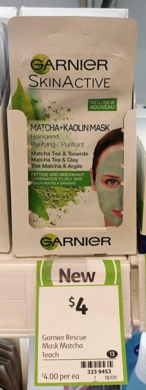 Garnier 1 Pack Skin Active Mask Matcha Kaolin
